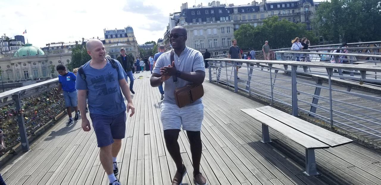 Brian Gant and Sebastian Ron Callet in Paris.JPG