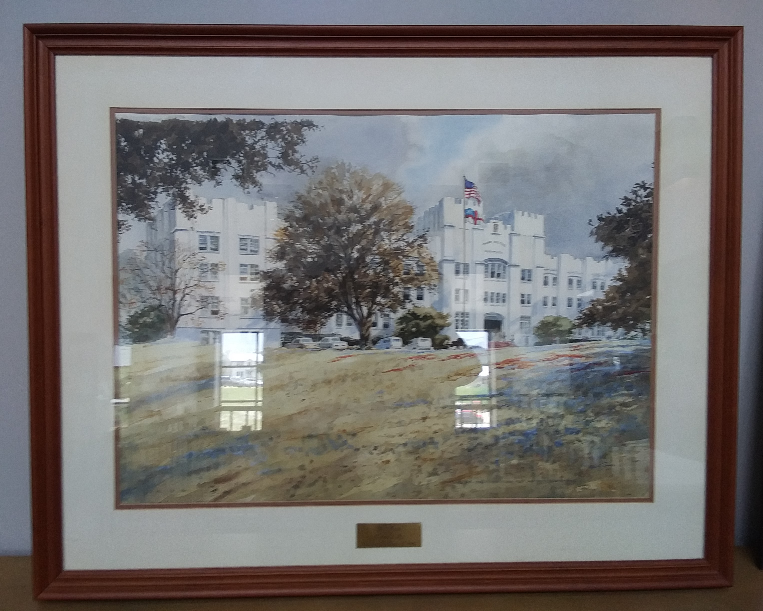 Class of 1985 Hal Sims painting of Old Main.jpg
