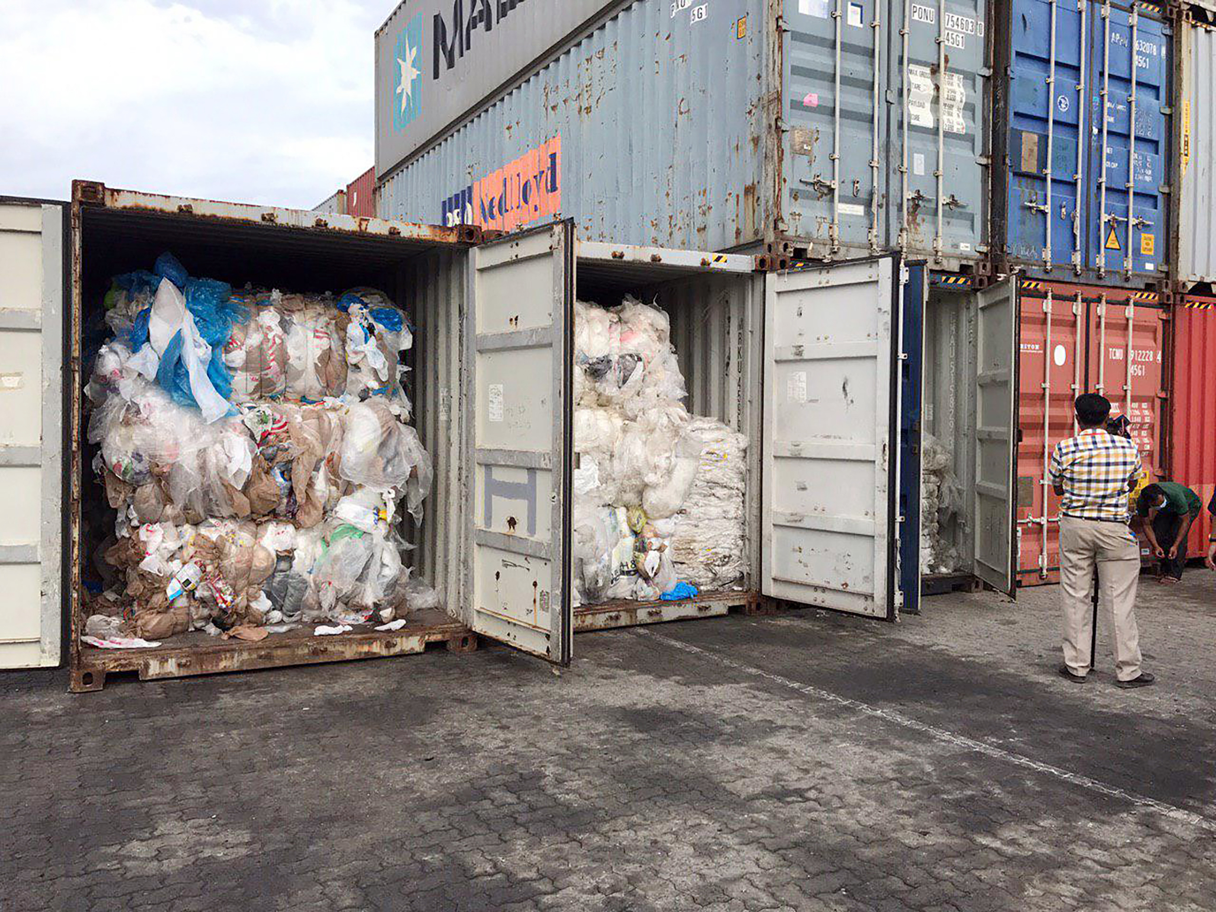 Plastic waste shipped to Cambodia from USA and Canada