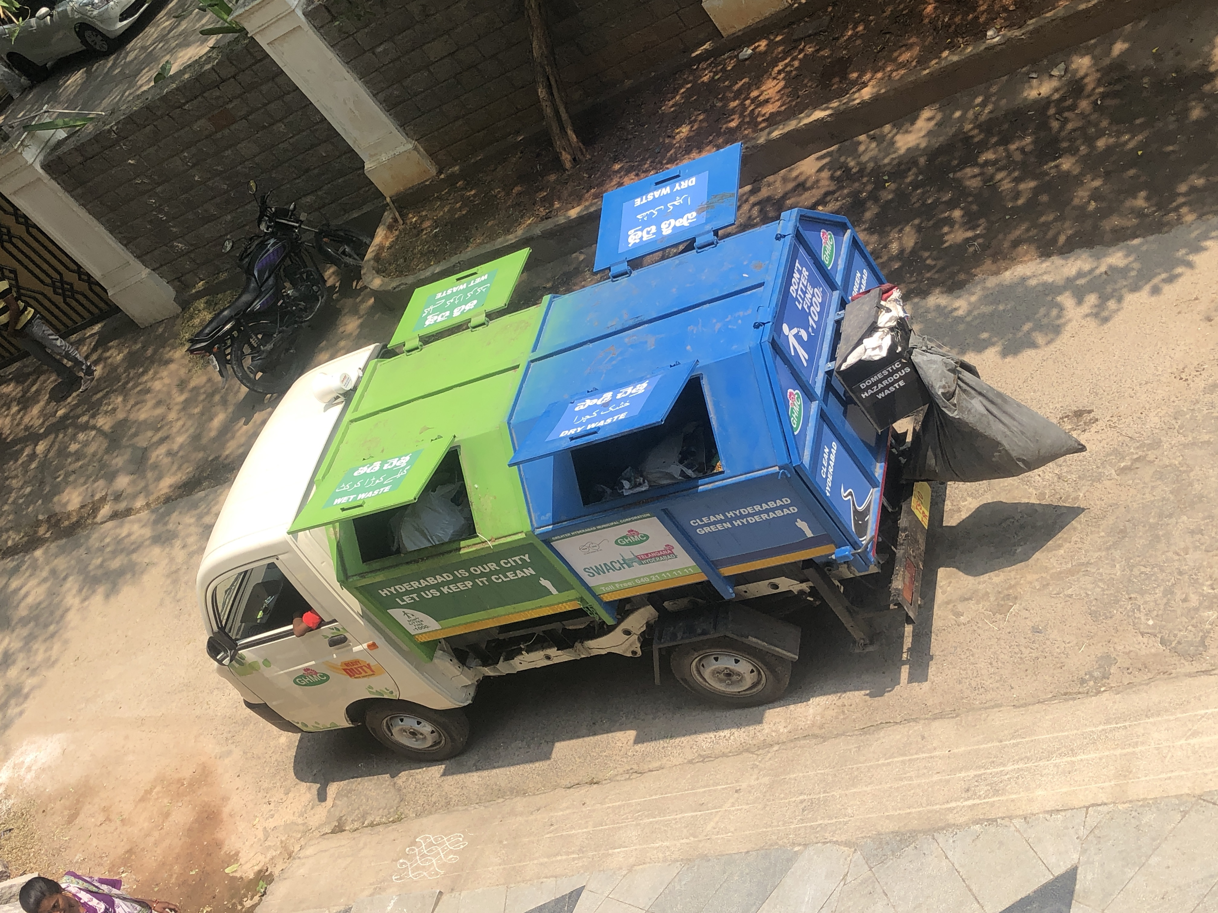 Waste Collection truck in Hyderabad