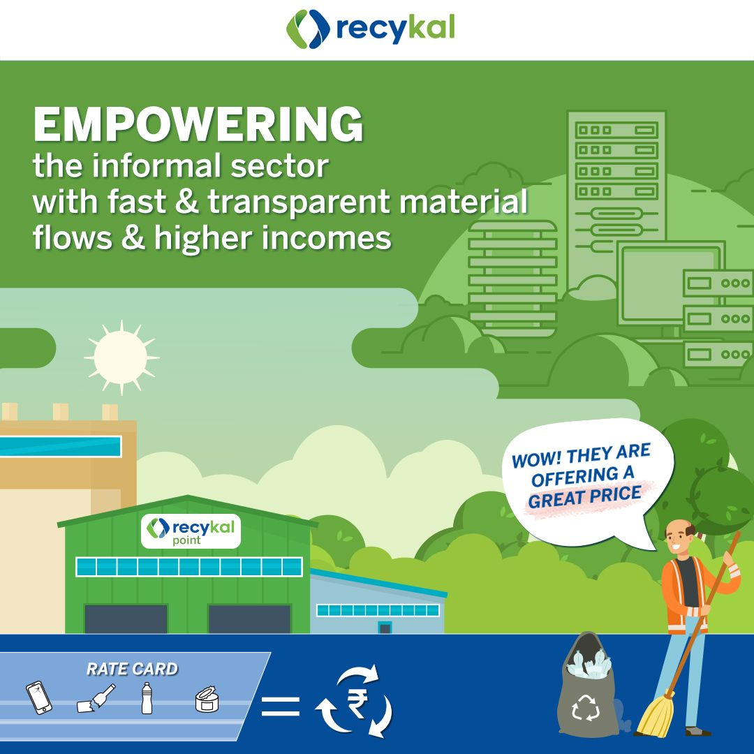 Recykal Point providing fair renumeration to waste collectors for ALL types of waste